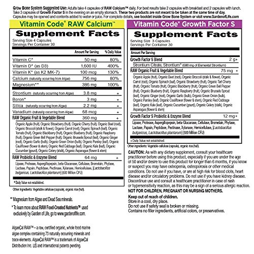 Garden of Life Raw Calcium Supplement - Vitamin Code Grow Bone System Whole Food Vitamin with Strontium, Vegetarian by Garden of Life (Image #5)