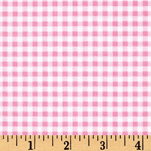 Hamil Textiles Flutter The Butterfly Gingham Check Fabric by The Yard Pink