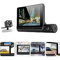 GARNECK Câmera veicular, 1080p, gravador de direção de carro, câmera frontal sensível ao toque, câmera de carro para…