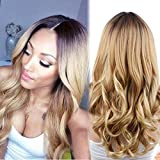 AISI HAIR Synthetic Long Curly wigs Ombre Color Party Wig Heat Resistant Fiber Full wigs for Woman offers