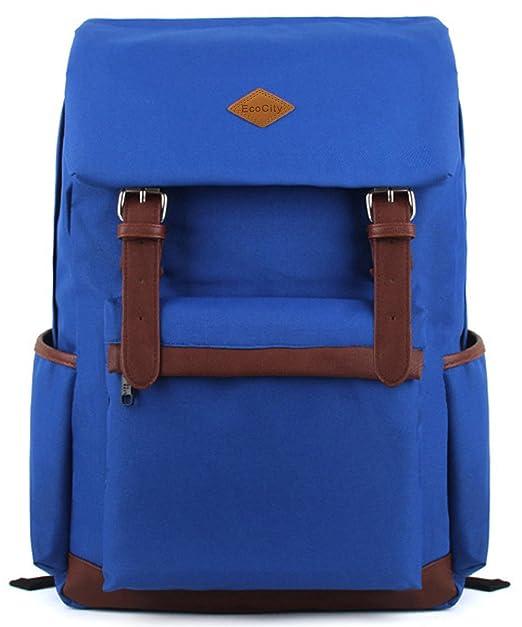 65 opinioni per EcoCity- Zaino fashion vintage in tela, scuola viaggio o computer, blu