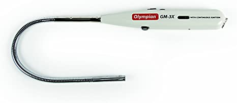 Amazon Com Camco Olympian Gm 3x Gas Match With Adjustable Flame Refillable With Lighter Fuel Fuel Viewing Window And Safety Lock Feature 57549 Automotive