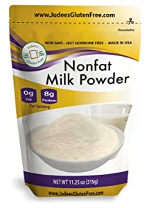Judee's Non-Fat Milk Powder (11.25 Oz): Non-GMO, Hormone Free, USA Produced , Protein (8 grams) and Calcium (20% DV) in each Serving