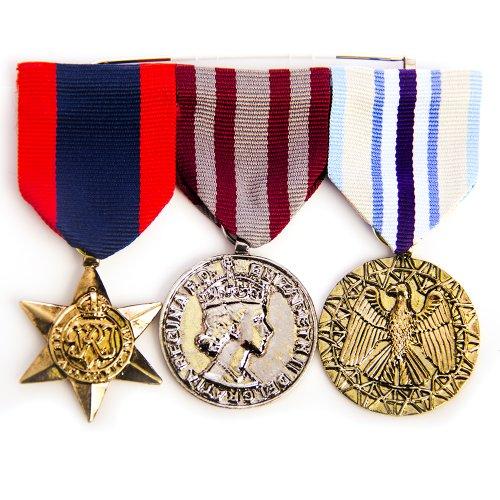 HMS Men's Triple War Medal, Multi, one size