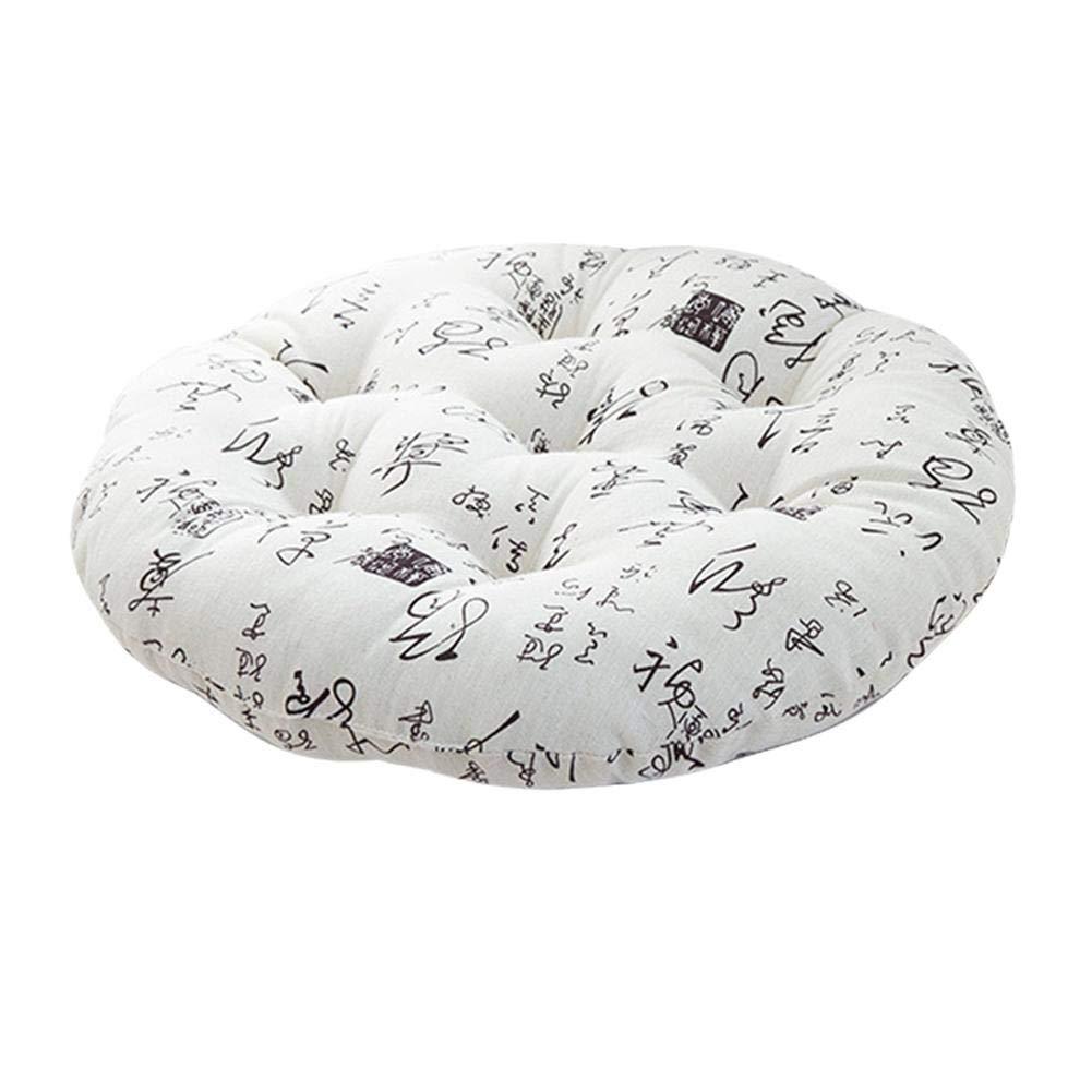 Winnerruby Cuscini per sedili con Cuscino Rotondo materassini per futon Giapponesi Cuscini Rotondi per Cotone e Cuscini Rotondi per Sala da Pranzo Sedie da Giardino