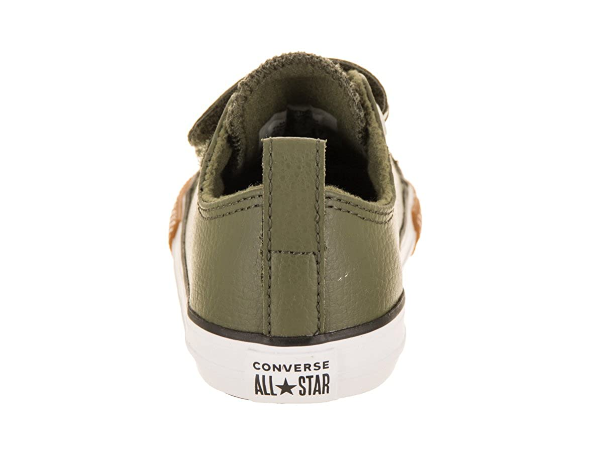 Converse Chuck Taylor All Star 2V OX Toddler Faux Leather Sneaker