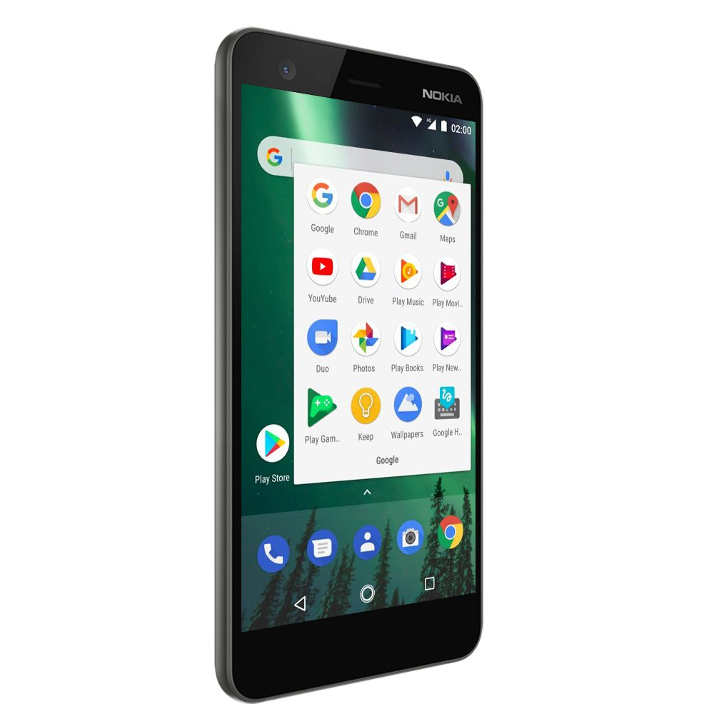 Nokia 2 - Android - 8GB - Dual SIM Unlocked Smartphone (AT&T/T-Mobile/MetroPCS/Cricket/H2O) - 5'' Screen - Black - U.S. Warranty by Nokia mobile (Image #4)