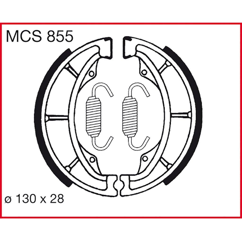 Machoires de freins Lucas MCS855 pour Honda CR-F 70 DE02 | Honda CRF 110 F (14/12 Zoll) JE02A | Honda XR 100 R XR100R | Honda XR 70 R DE02 | Honda XR 80 R | Hyosung GA 125 Cruise I | Hyosung GA 125 TRW Lucas