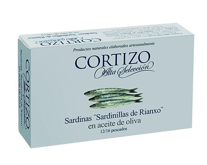 CORTIZO - (CAJA 24 LATAS) Conserva de sardinas de Rianxo en ...