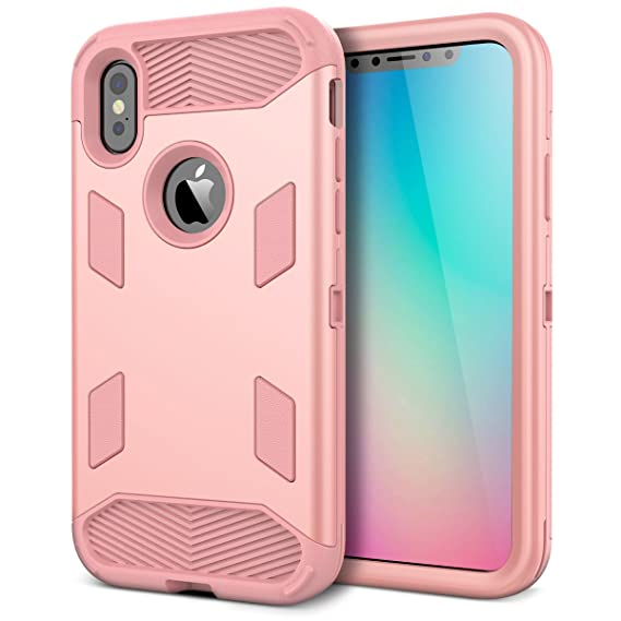reputable site 73c41 53f67 iPhone X Case, iPhone Xs Case, WeLoveCase [Super Armor Series] Heavy Duty  Hybrid Shockproof Military-Grade Rugged Protective Case Non-Slip Grip ...