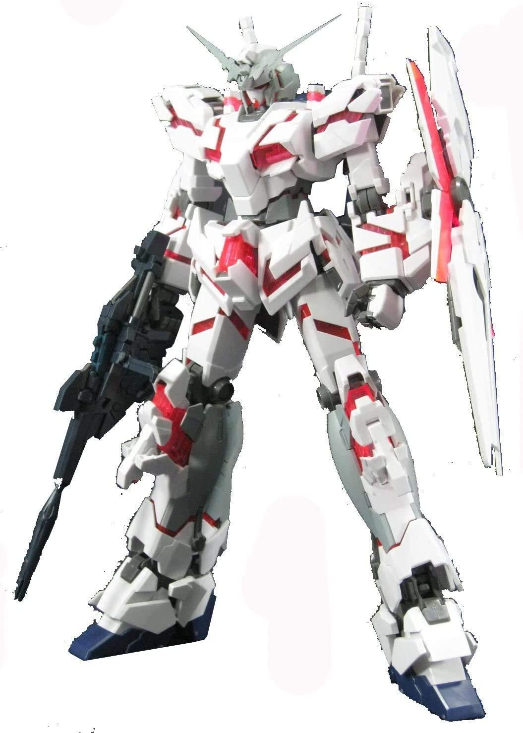 Bandai Hobby RX-0 Unicorn Gundam HD Color with MS Cage Master Grade Figure, Scale 1/100