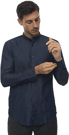 BOSS Camisa casual vaquero oscuro algodón hombre vaquera oscuro 37: Amazon.es: Ropa y accesorios