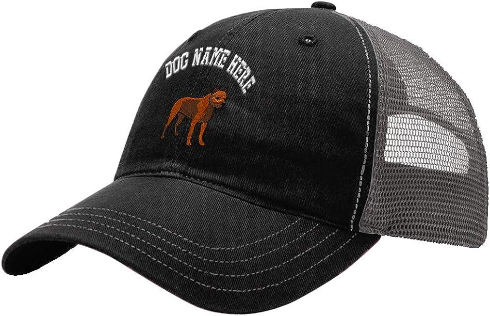 Custom Trucker Hat Richardson Pit Bull Embroidery Dog Name Cotton Soft Mesh Cap