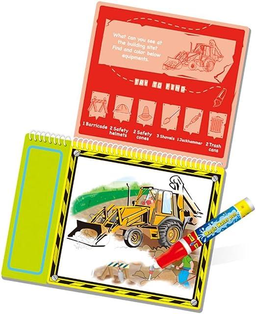 Bubudong Transporte de agua temática libro de dibujo con una ...