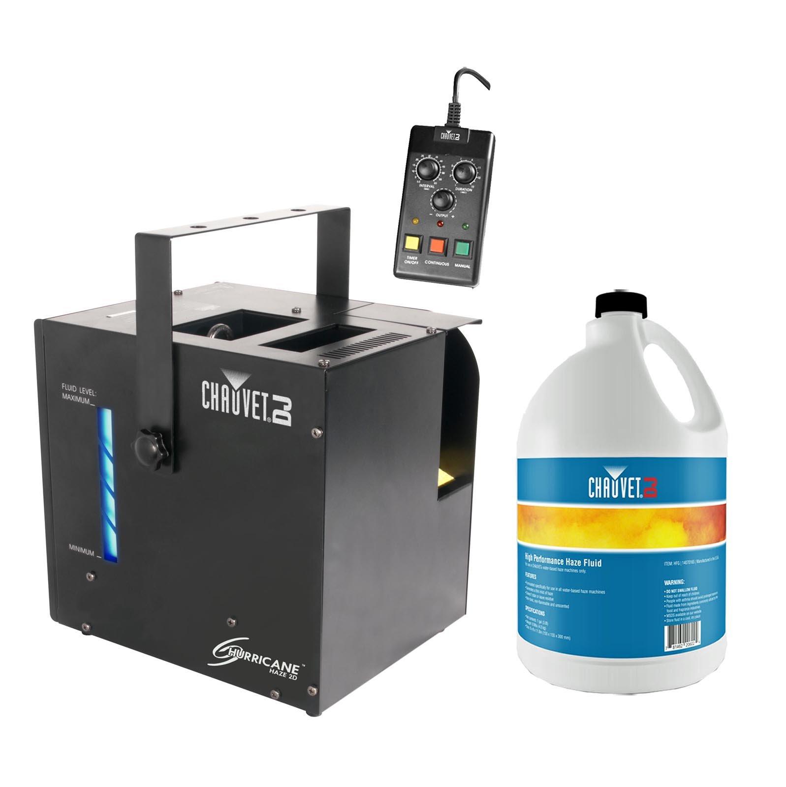 CHAUVET Hurricane Haze 2D Water-Based DJ Haze/Smoke/Fog Machine w/Remote + Fluid
