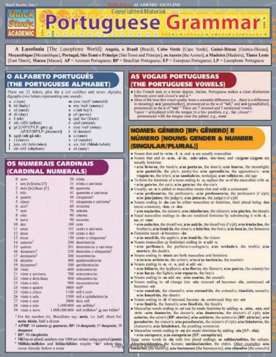 Portuguese Grammar (Quick Study Acdemic) by Inc. BarCharts