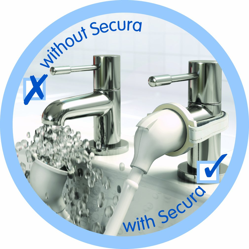 Croydex Removeable Push-Fit Secura Bath Shower Set, White AA107022 Bathroom_Accessories Misc Push Fit Shower Sprays