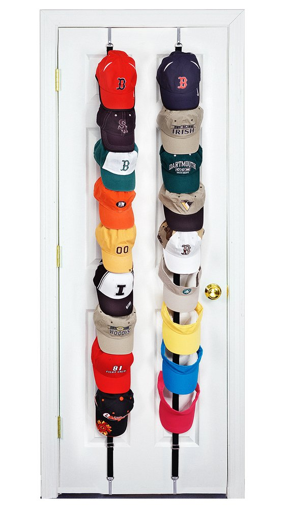 CapRack18 - Baseball Cap Holder (Black) by Perfect Curve