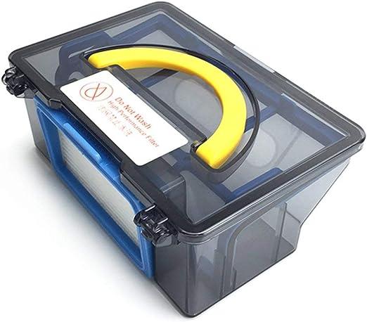 Contenedor Original de la Caja de Polvo para el Robot Aspirador Ilife V50 Accesorios de Piezas Filtro Hepa X1 Filtro Hepa eficiente X1 (Azul y Blanco) ESjasnyfall: Amazon.es: Hogar