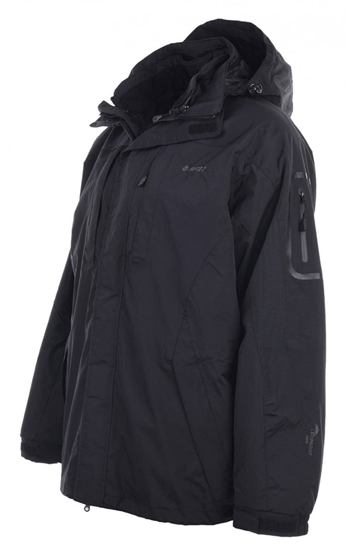 Hi-Tec Men's Biotit II Men's Jacket, Winter Jacket, hiking jacket?-?3?in 1?Jacket, Black, L