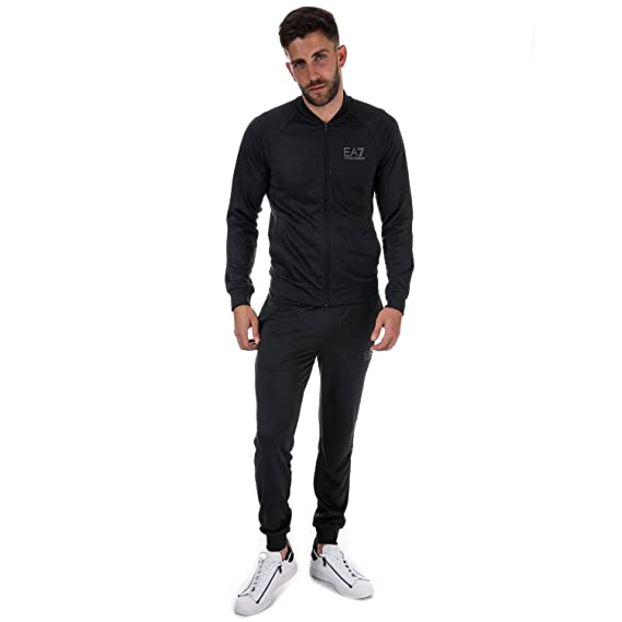 8acf78411 Emporio Armani Mens Ea7 Train Core Id Fz Tracksuit in Carbon: Emporio  Armani EA7: Amazon.co.uk: Clothing