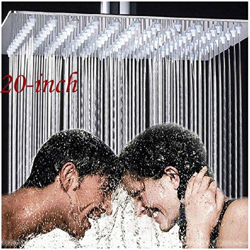 Rozin Bathroom 20 Inches Rain Shower Head Chrome Brass Ultrathin Shower Top Sprayer Ceiling Mounted