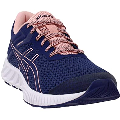 lowest price b41fc f649d ASICS T769N Women s FuzeX Lyte 2 Running Shoe, Indigo Blue Frosted Rose - 8