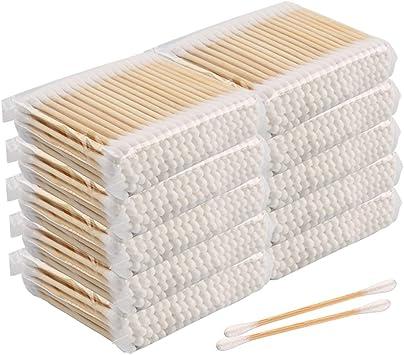 Algodón Buds, 1000 piezas hisopos de algodón, 100% biodegradable ...