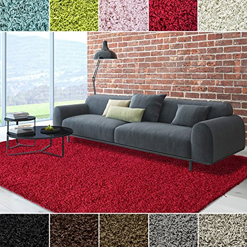 iCustomRug Dixie Cozy Soft And Plush Pile, 5ft0in x 7ft0in ( 5X7 ) Shag Area Rug In (Red Carpets For Sale)