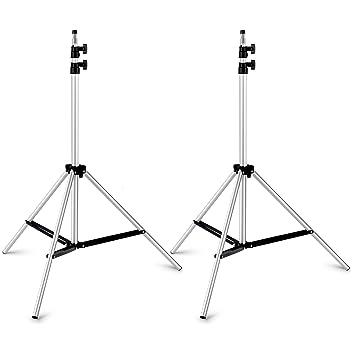 """Neewer® 2 Piezas 75""""/190cm Fotografía Estudio Vídeo Ajustable Aleación de Aluminio Plata"""