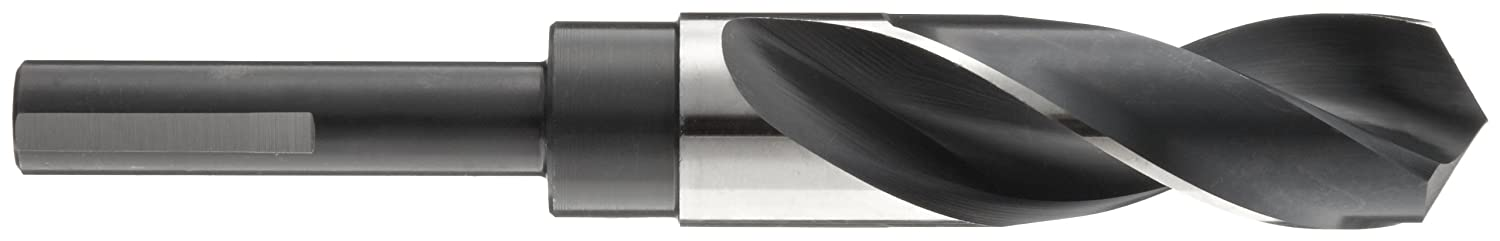 Uncoated Precision Twist R57 High Speed Steel Reduced Shank Drill Bit 1//2 Reduced Shank 1 7//64 and Black Oxide Finish 118 Degree Conventional Point Bright