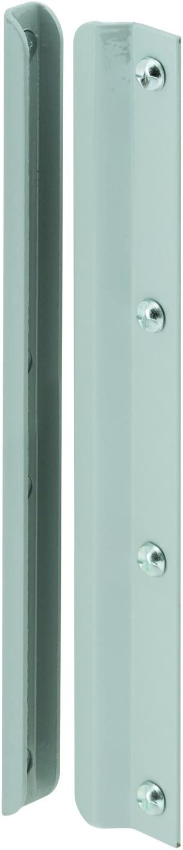 Prime-Line MP9513 Latch Shield, 12 in, Steel, Gray, In-Swinging Doors, Pack of 1