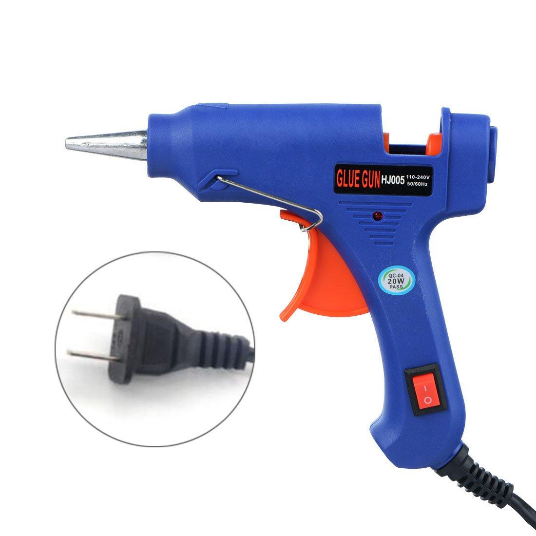 Hot Glue Gun, YUIOP Hot Melt Glue Gun with 10Pcs Glue Sticks,20-Watt,High Temperature Melting Glue Gun for DIY Craft Projects and Repair Kit