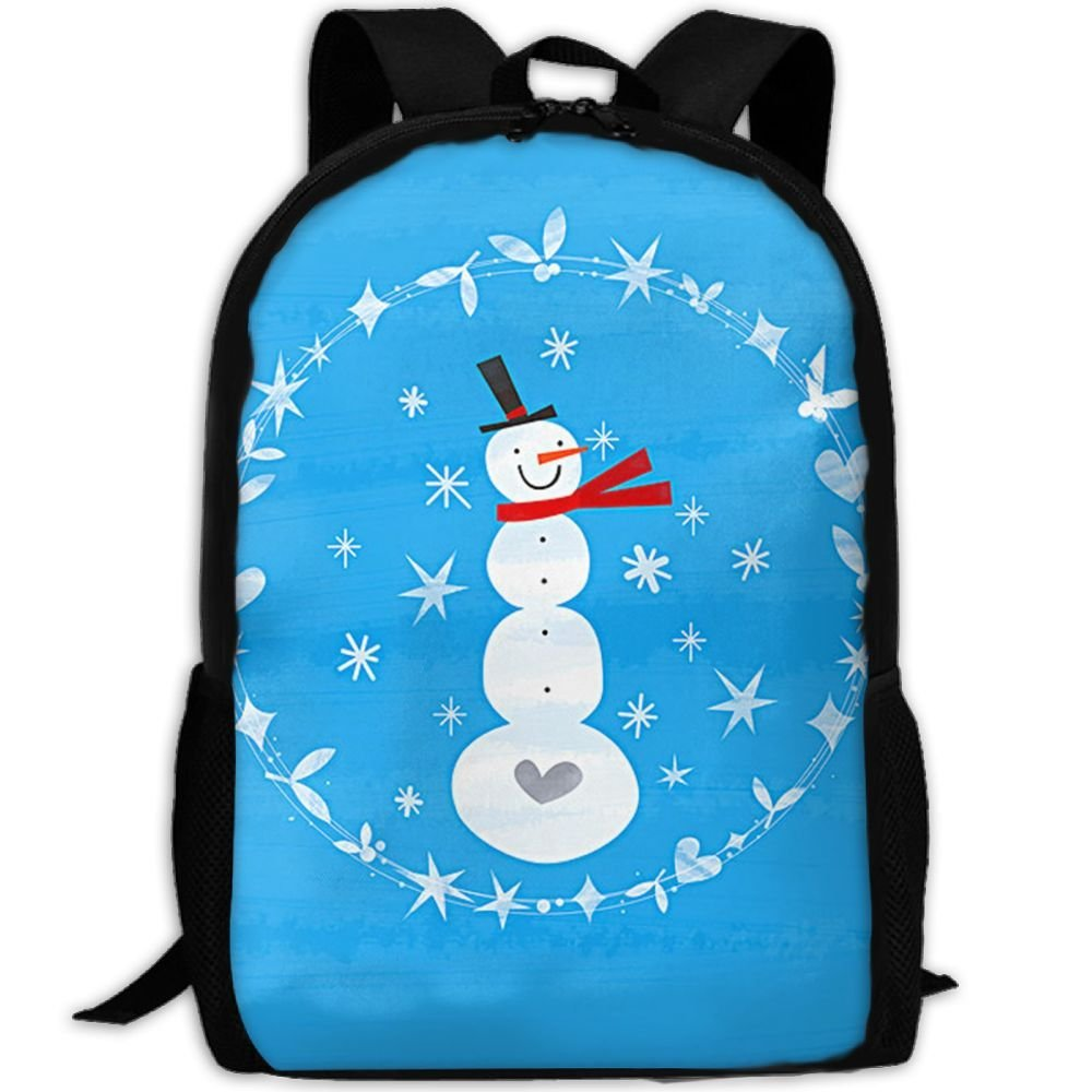 malsjk8冬クリスマス雪だるまスクールBookbagsバッグリュックサックのガールズ旅行バックパックキャンバスバックパックショルダーBookbags   B07G27PG61