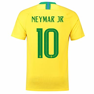Image Unavailable. Image not available for. Color  Neymar JR 10 Brazil 2018  Men Soccer Jersey ... 9ee1bf82e
