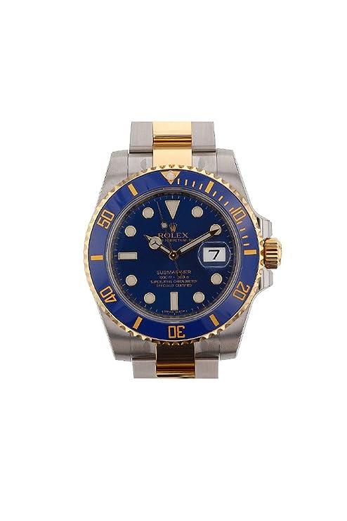 80898bd37759 Rolex Submariner Azul Dial Oro y Acero Reloj 116613: Amazon.es: Relojes