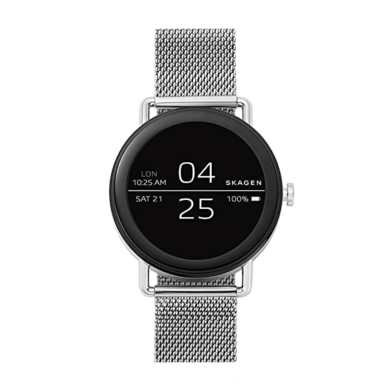 Skagen Connected Falster Watch with Stainless Steel Strap, Silver, 20 (Model: SKT5000)