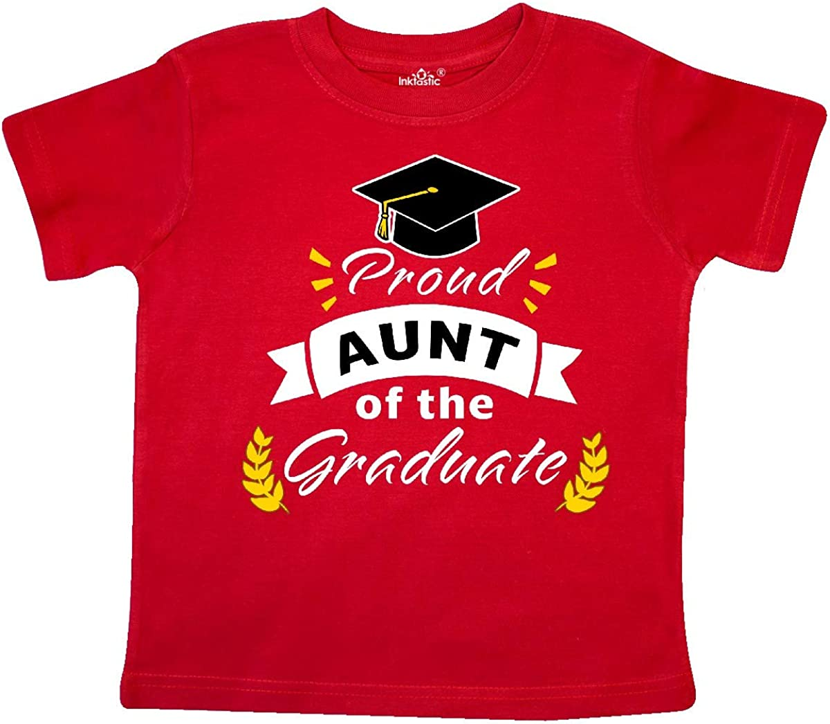 inktastic Family Graduation-Proud Aunt of The Graduate Toddler T-Shirt