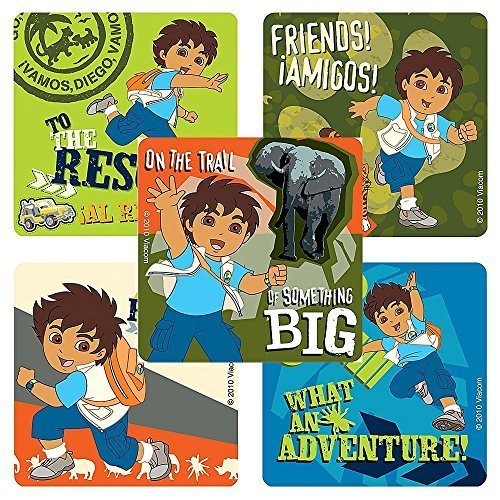 Go Diego Go Dora the Explorer Stickers - 75 Per Pack