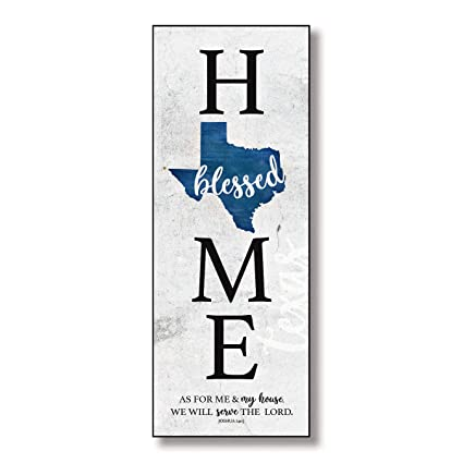 Amazoncom Texas Home Wood Plaque With Inspiring Quotes 6 X15 34