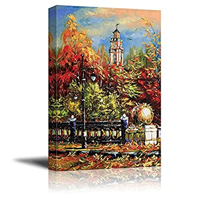 Canvas Prints Wall Art - Ancient Vitebsk in The Autumn -12