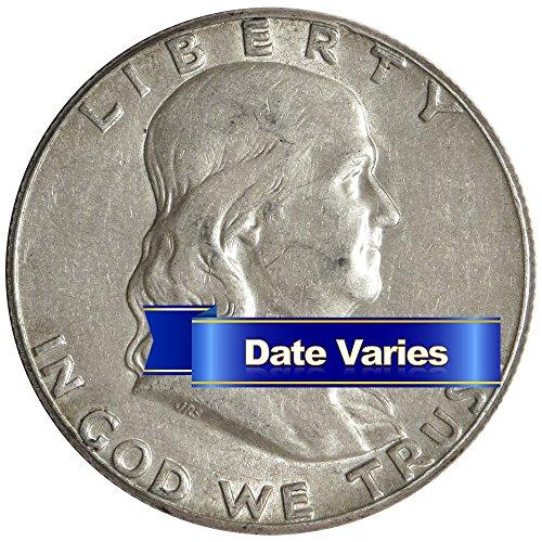 (1948-1963) 90% Silver Franklin Half Dollars (Average Circulated) $1 Face Value 50c - (Silver Half Dollars Value)
