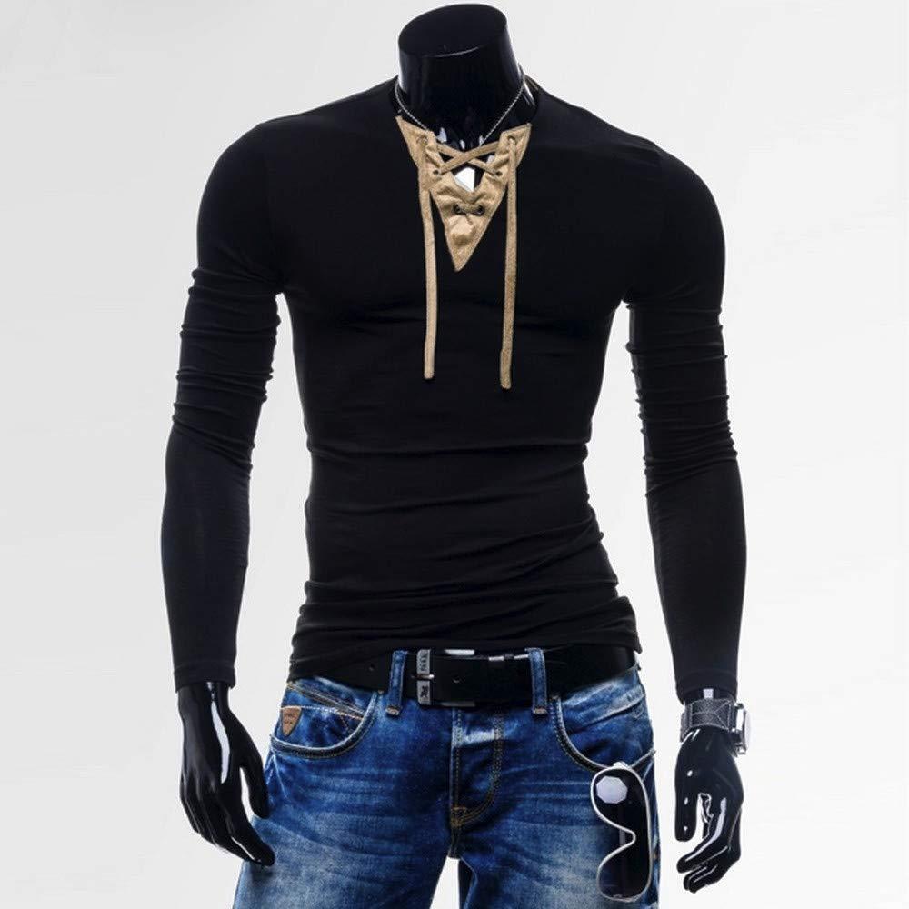 Hombre Bodybuilding Manga Larga Camisetas con Capucha de Manga Tirantes Sweatshirt,Camiseta de Manga de Larga con Cinta de Empalme de Color sólido para Hombre, Rcool dc30a7