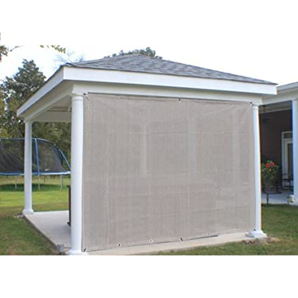 Alion Home Outdoor Sun Shade Privacy Panel Grommets on 2 Sides Patio,  Awning, Window, Custom to Order (4' x 6', Smoke Grey)