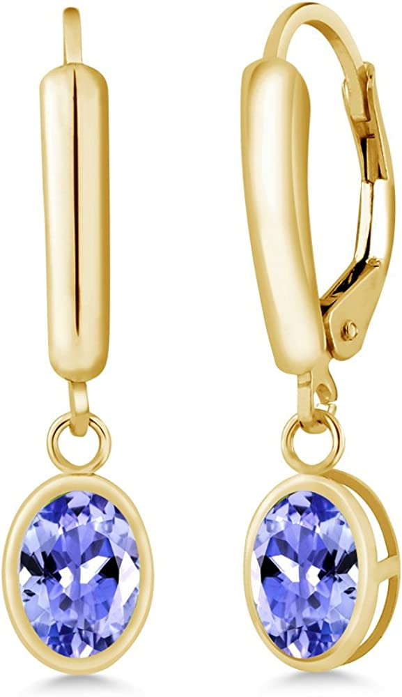 1.50Ct Red Ruby /& Diamond Drop /& Dangle Earrings 14K White Gold Over For Women/'s