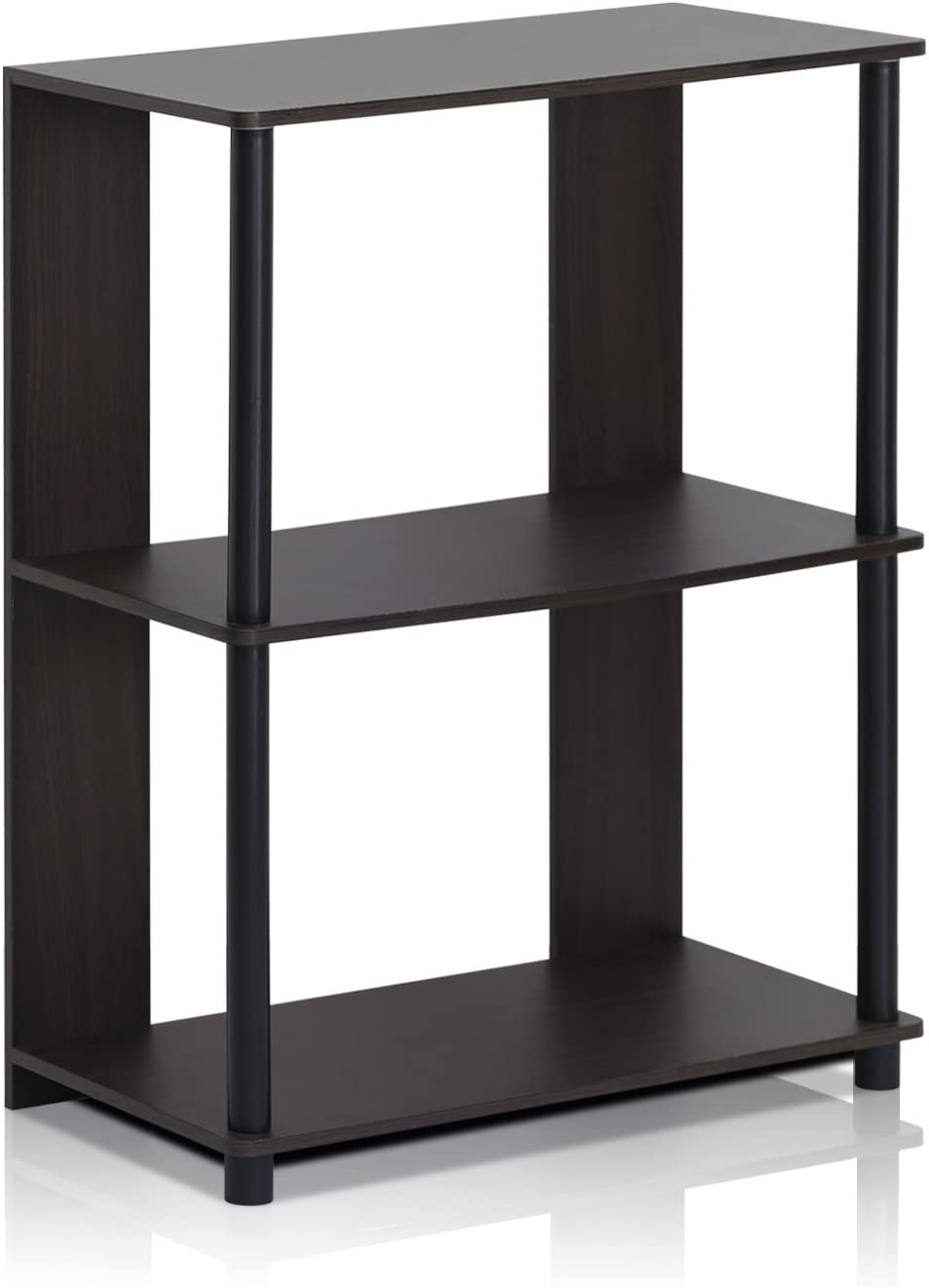FURINNO Jaya Simple Design Bookcase, Walnut