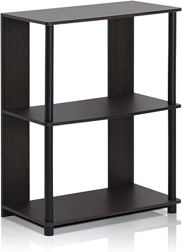 FURINNO Jaya Simple Design Bookcase, Walnut