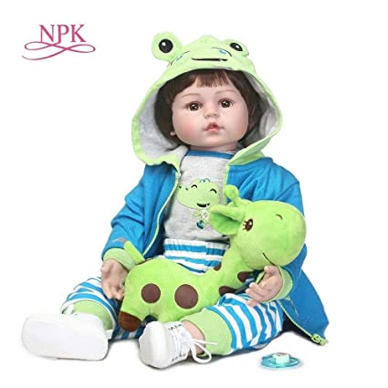26e21d90b647 Buy NPK 60cm Silicone Reborn Baby Doll Kids Playmate Gift for Girl 24 Inch Baby  Alive Soft Toy for Bebe Reborn Brinquedo Dolls House Online at Low Prices  in ...