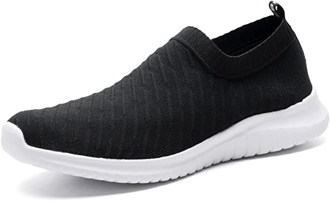 Lightweight Casual Knit Slip on Sneakers konhill Mens Athletic Walking Shoes