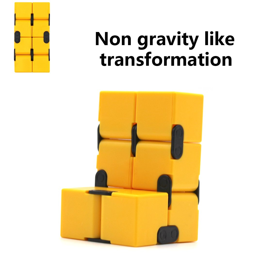 Single Finger Endless Fun Decompression Stress Relief Anti Anxiety Infinity Cube for Children and Adults Cuddty Fidget Toy